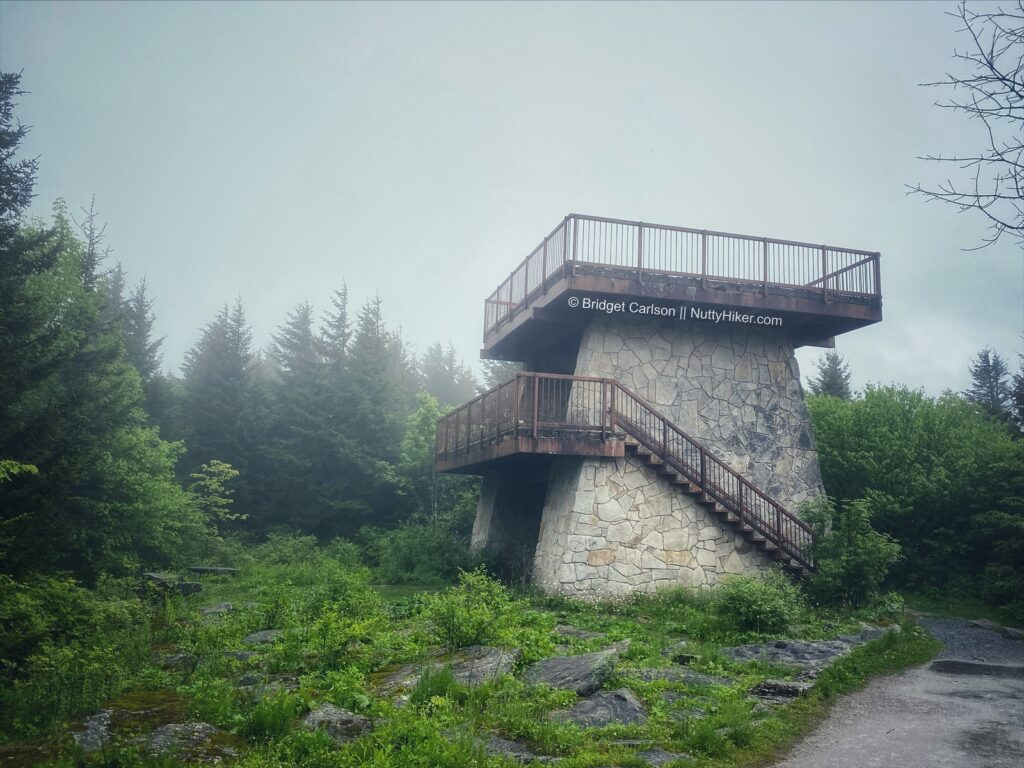 The observation tower at Spruce Knob