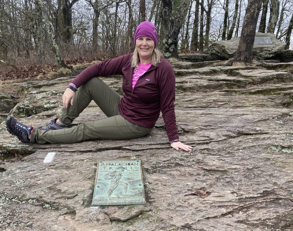 Start of the Appalachian Trail - First White Blaze