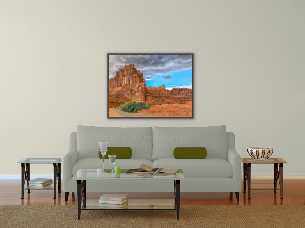 30x40 picture over the sofa