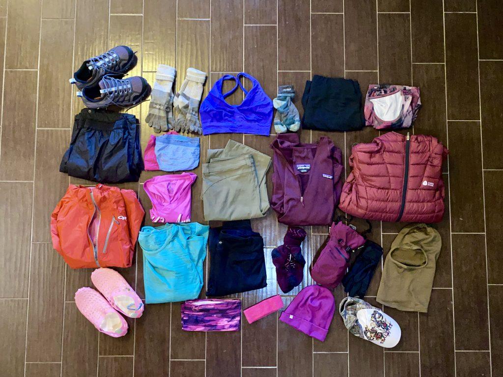 My appalachian trail clothing choices