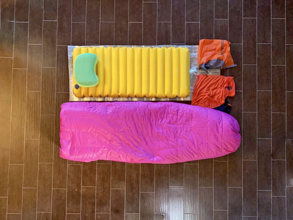 Sleep system for the Appalachian Trail