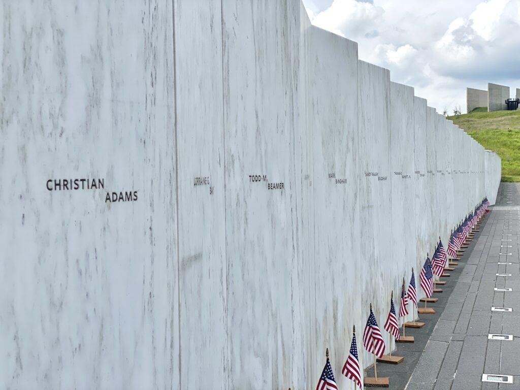 Wall of names at the Flight 93 National Memorial