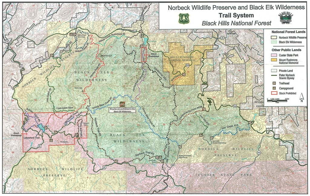 Black Elk Wilderness Trail System