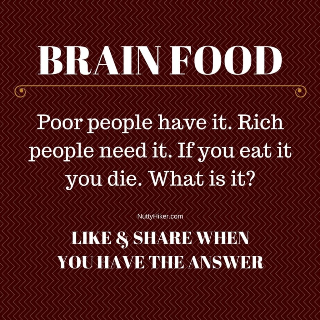 Brain Food Tuesday 4-26-2016 Riddle