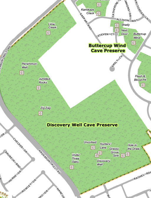 Discovery Well Cave Preserve Cave Locations