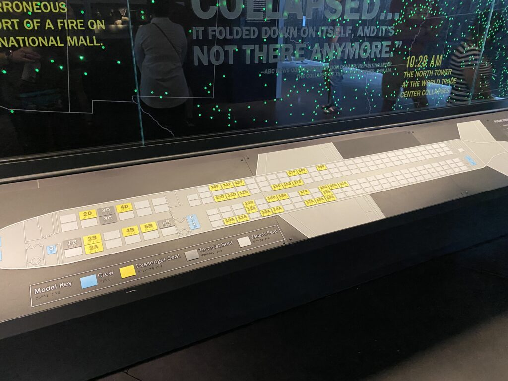 Seat assignments of Flight 93