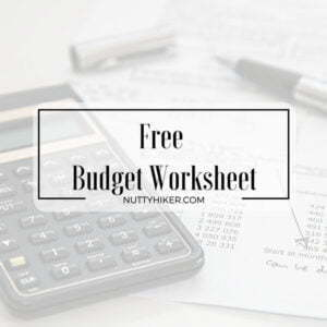 Free Budget Worksheet with instructions