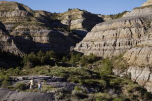 Hiking in the North Unit of Theodore Roosevelt National Park near Watford City.