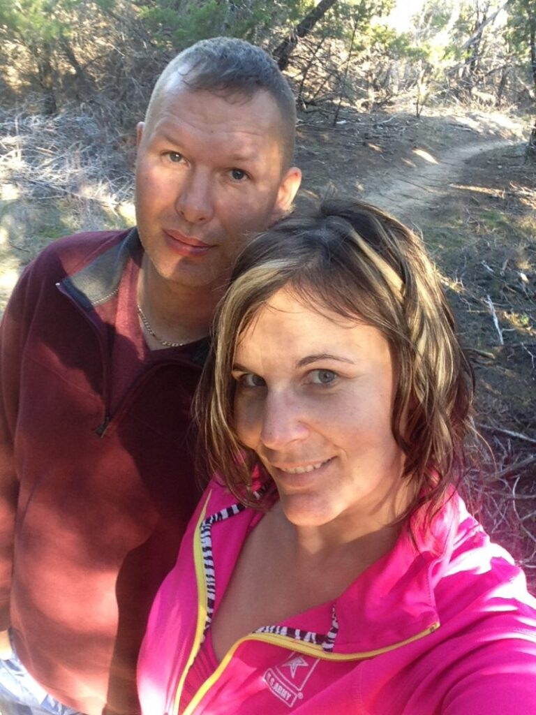 Hiking with the hubby at Dana Peak Park after the Oct 2015 Fire.