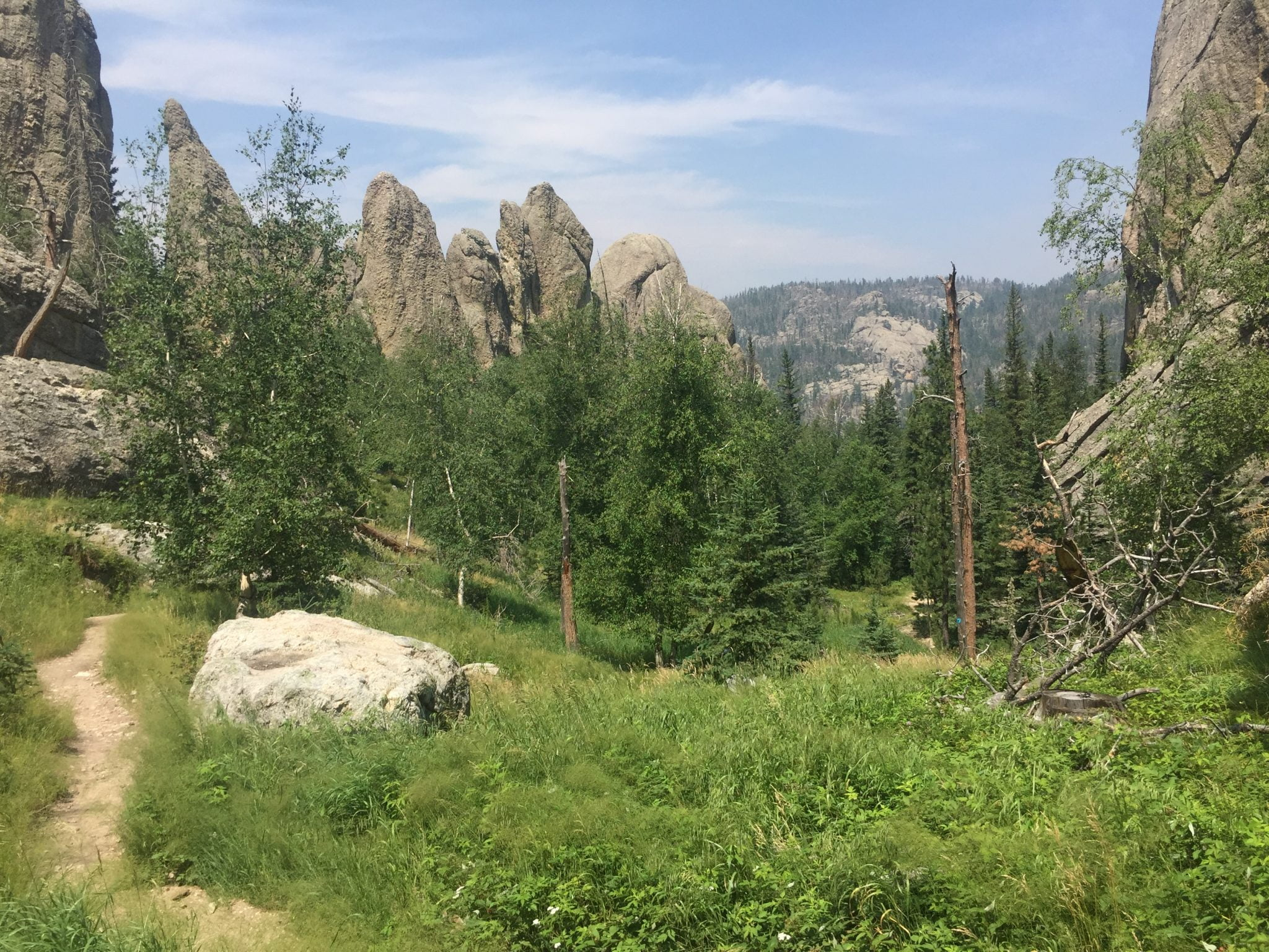 The Sunday Gulch Trail located in the Black Hills of South Dakota