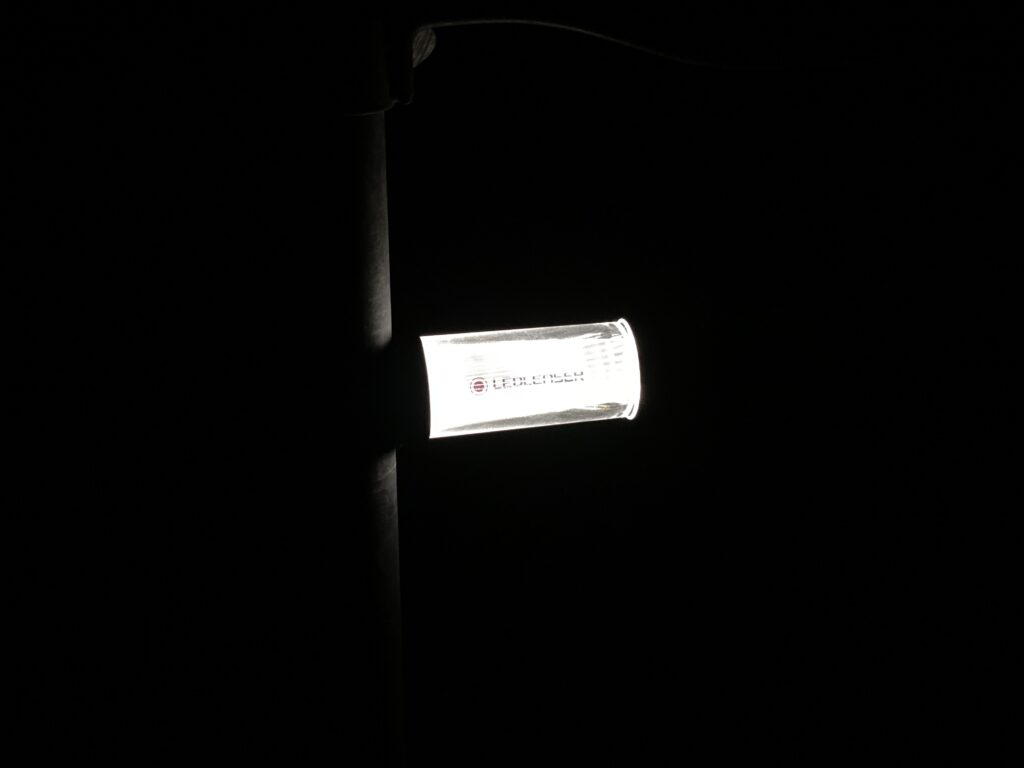 IA6R Lantern using the magnet to attach to a pole