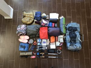 Lone Star Hiking Trail Gear Layout - PreHike
