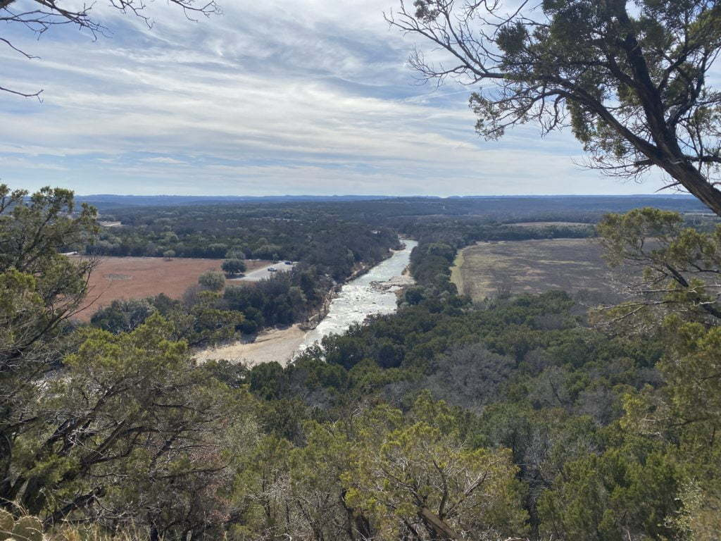Scenic Overlook on Overlook Trail at Dinosaur Valley State Park in Texas