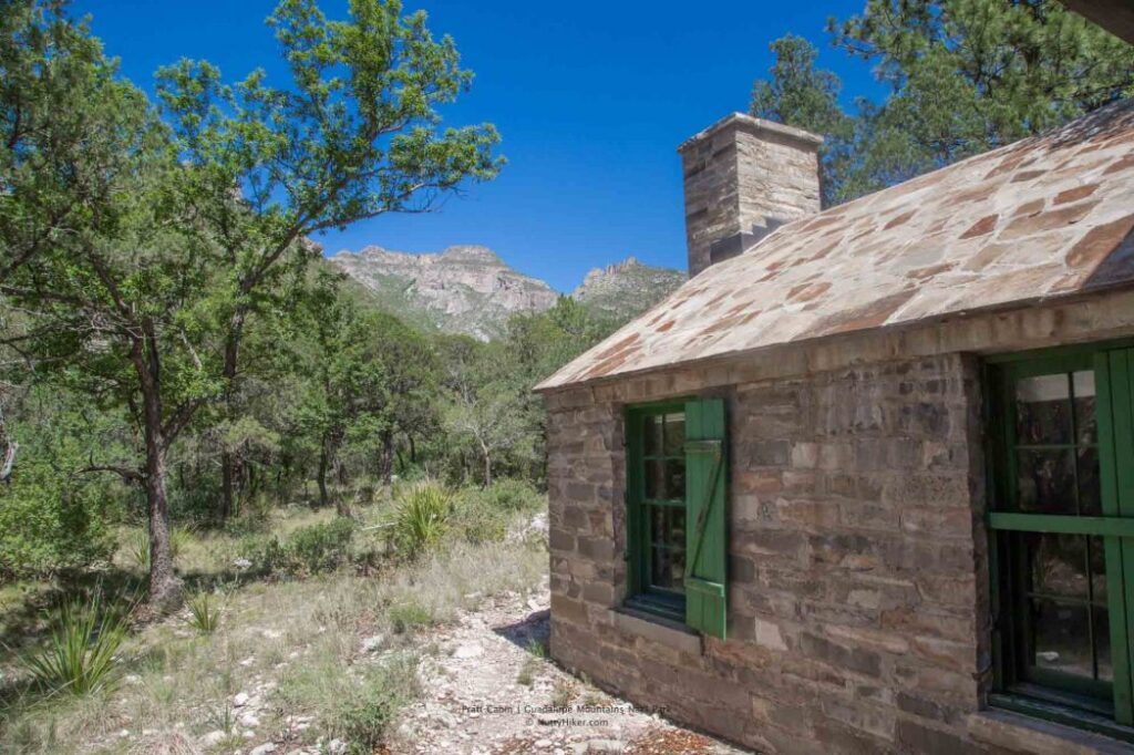 Pratt Cabin at Guadalupe Mountain National Park in Texas