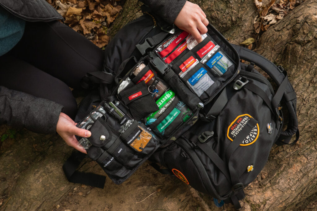 Inside the Surviveware Survival First Aid Kit