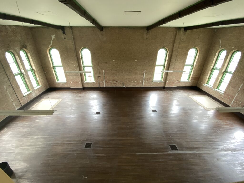 Rec room at the Trans-Allegheny Lunatic Asylum