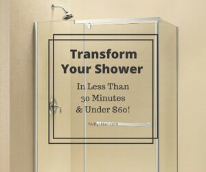 How to Transform Your Glass Shower in less than 30 minutes and under $60!