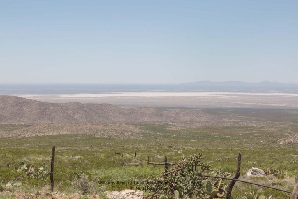 View of the Salt Flats from Williams Ranch at Guadalupe Mountains National Park in Texas
