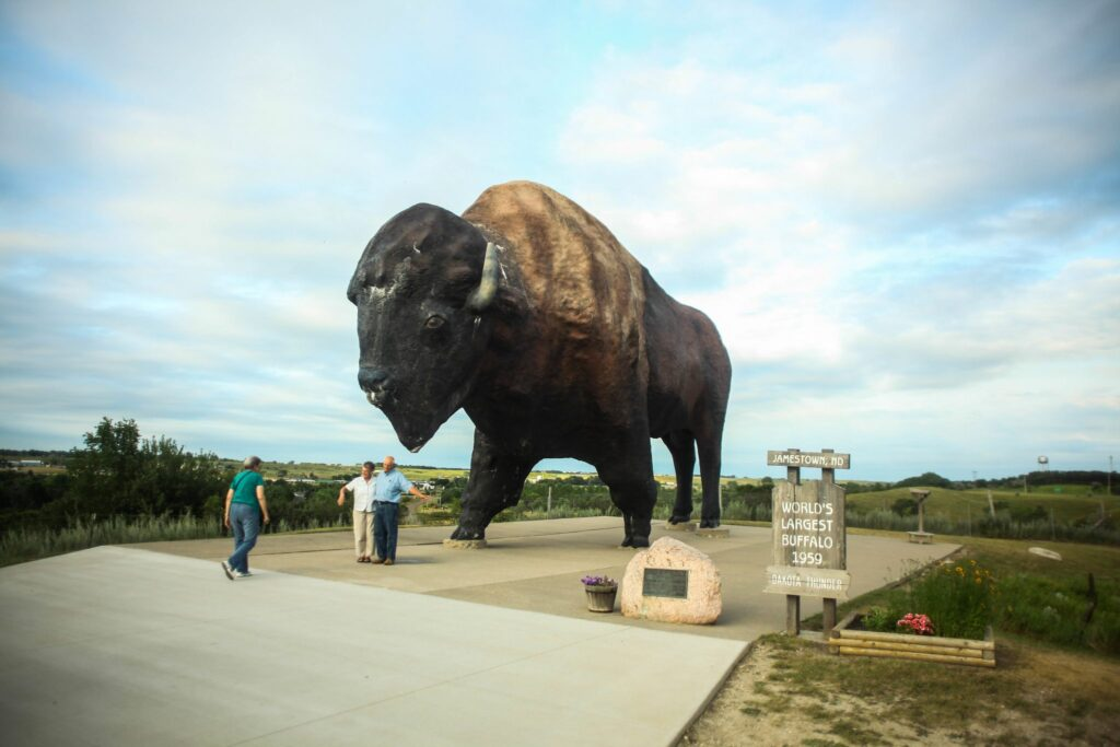 World's Largest Buffalo at Jamestown.