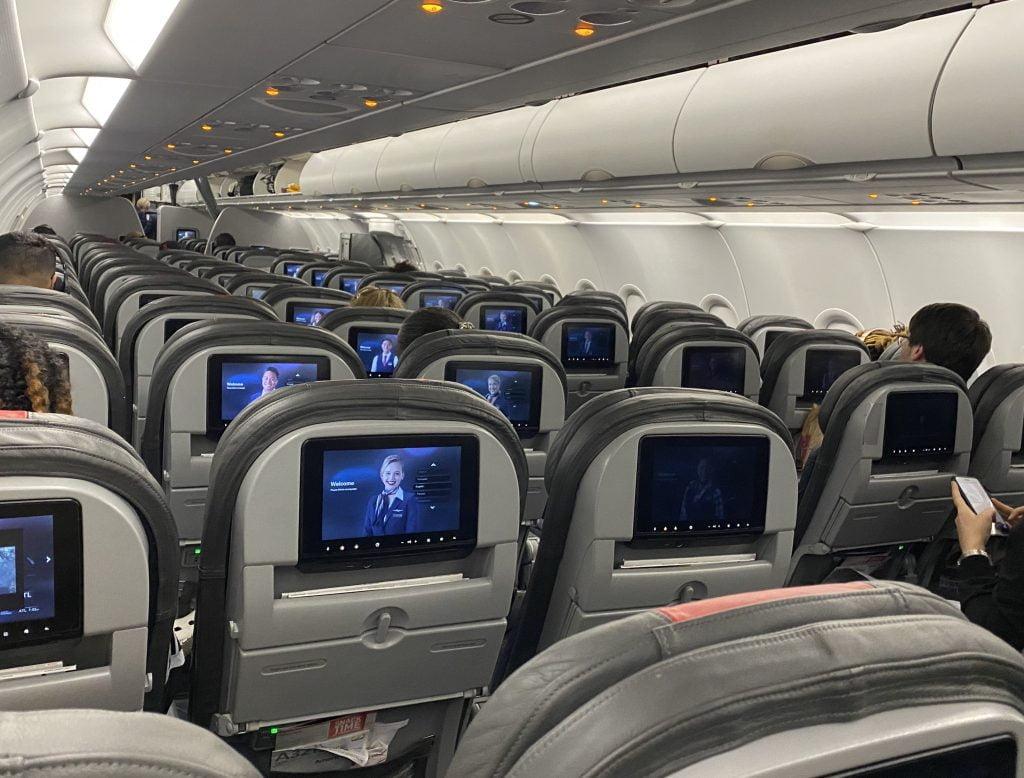 Empty flight into Atlanta from DFW on March 17, 2020