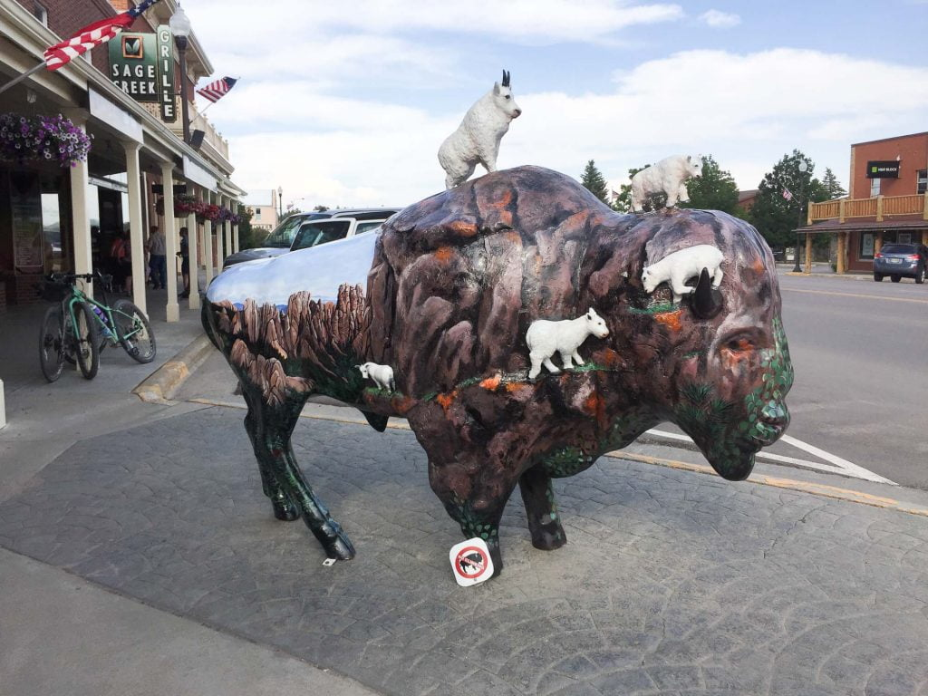 Big Painted Buffalos in Custer South Dakota