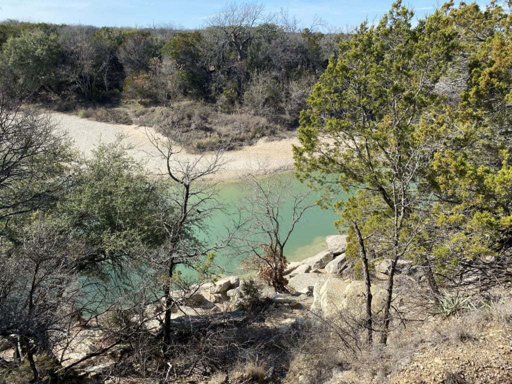 Blue hole at Dinosaur Valley State Park in Texas