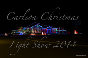 Carlson Christmas Light Show in Harker Heights Texas near Fort Hood