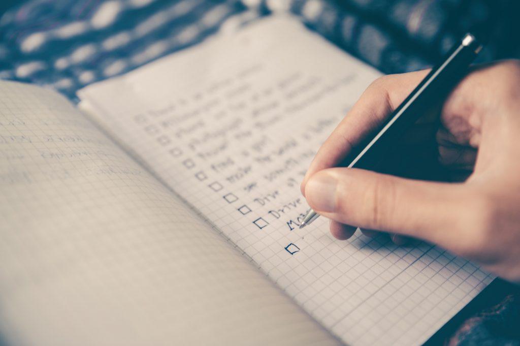 Pre thru Hike Checklist