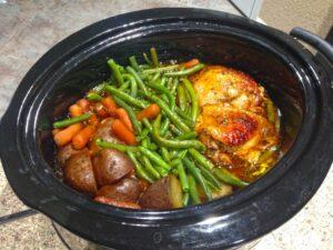 Crock Pot Chicken Honey Garlic with Vegetables