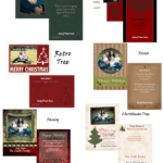 Custom Christmas Cards Flat