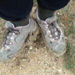 Hiking in mud at Dana Peak Park near Fort Hood Texas