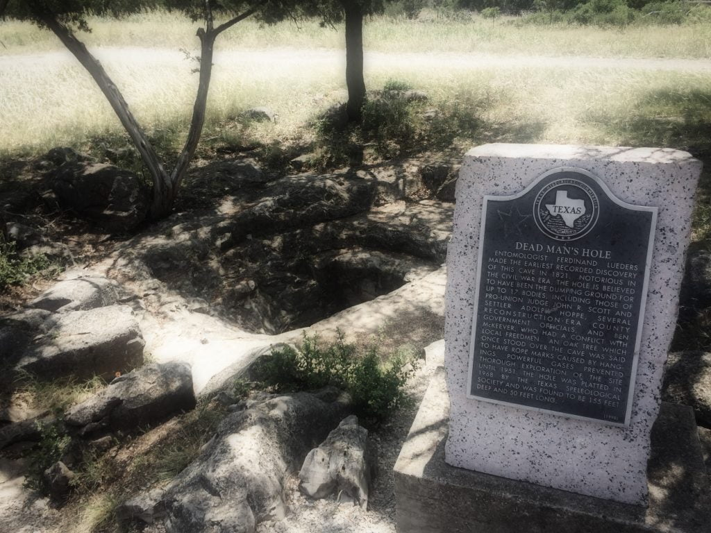 Dead Man's Hole in Marble Falls, Texas
