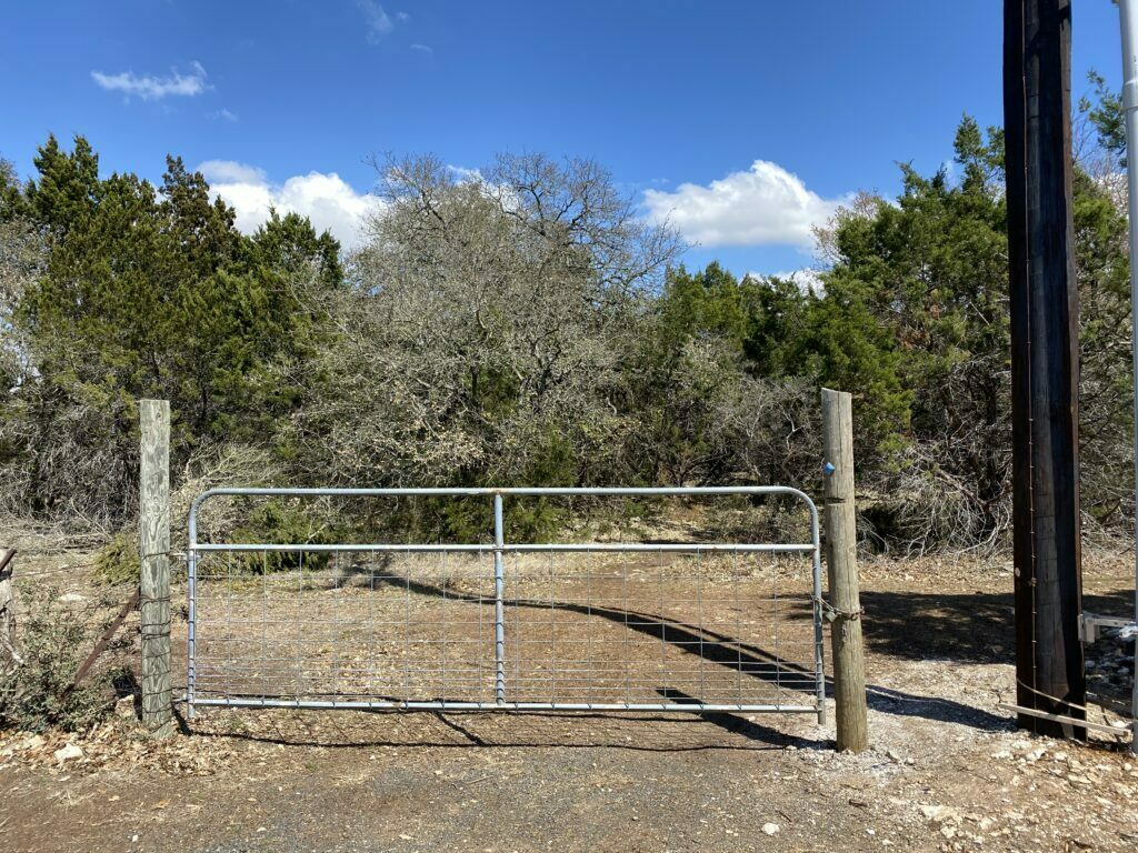 Entrance for Buttercup Creek Cave Preserve at the Ranch at Cypress Creek Park.