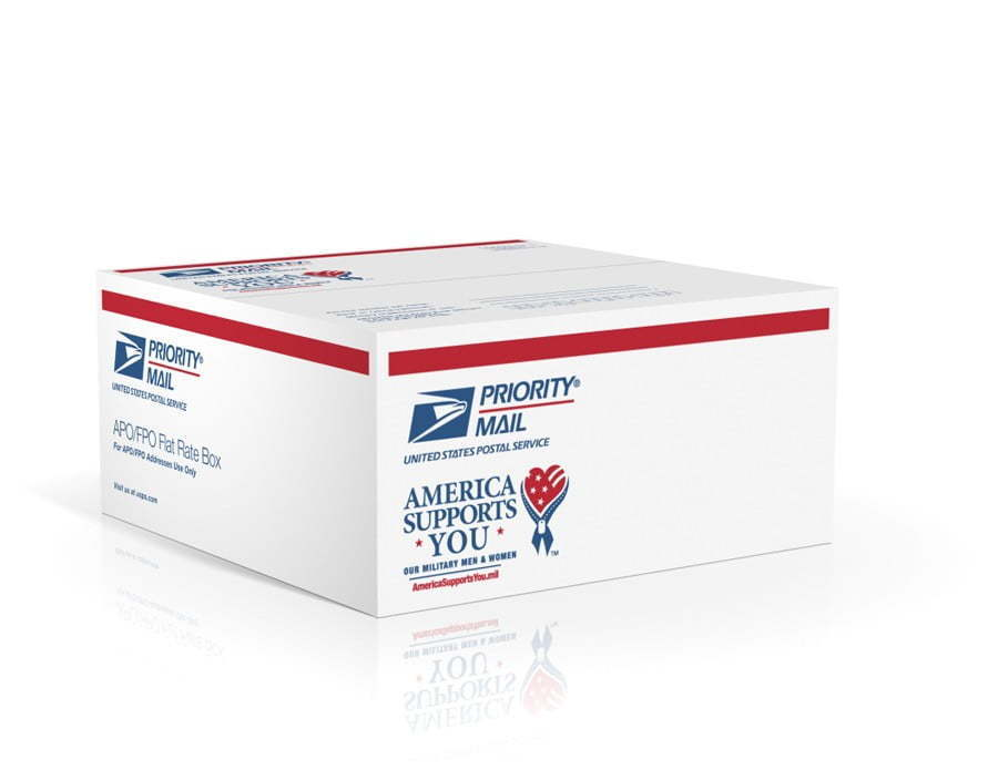 America Supports You Flat Rate Box