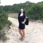 Hiking as a nun at Dana Peak Park for Halloween week. Day 2. Texas