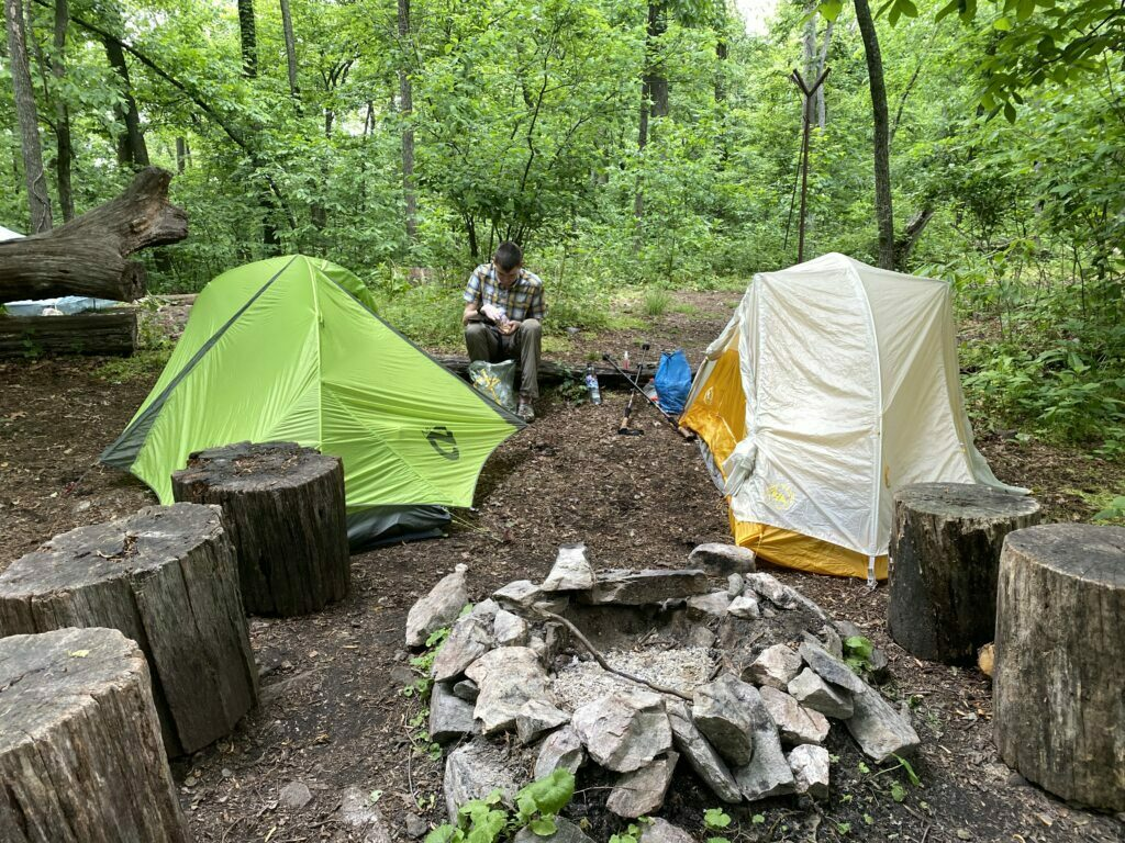 Tenting area at Ed Garvey Shelter on the Appalachian Trail