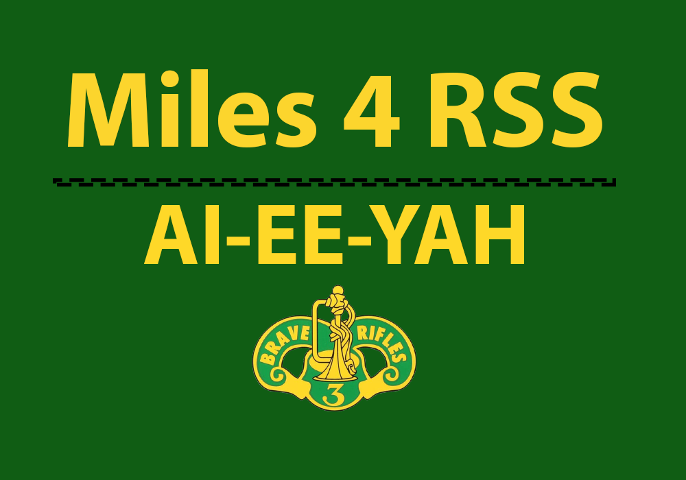Logging miles for 3rd CR RSS while they are deployed.