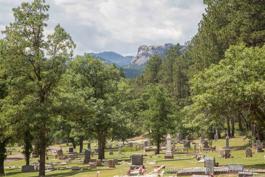 Mountain View Cemetery aka Keystone Cemetery is the only cemetery with a view of Mount Rushmore.