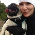 Hiking with my pug at Dana Peak Park near Fort Hood Texas