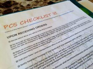 PCS Binder PCS Checklist