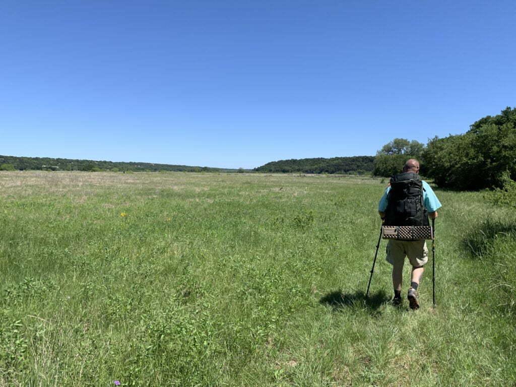Prairie walk after Tejas park along Goodwater Loop