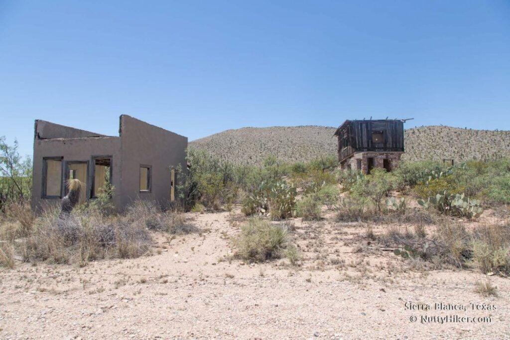 Old Building remnants in Sierra Blanca Texas.