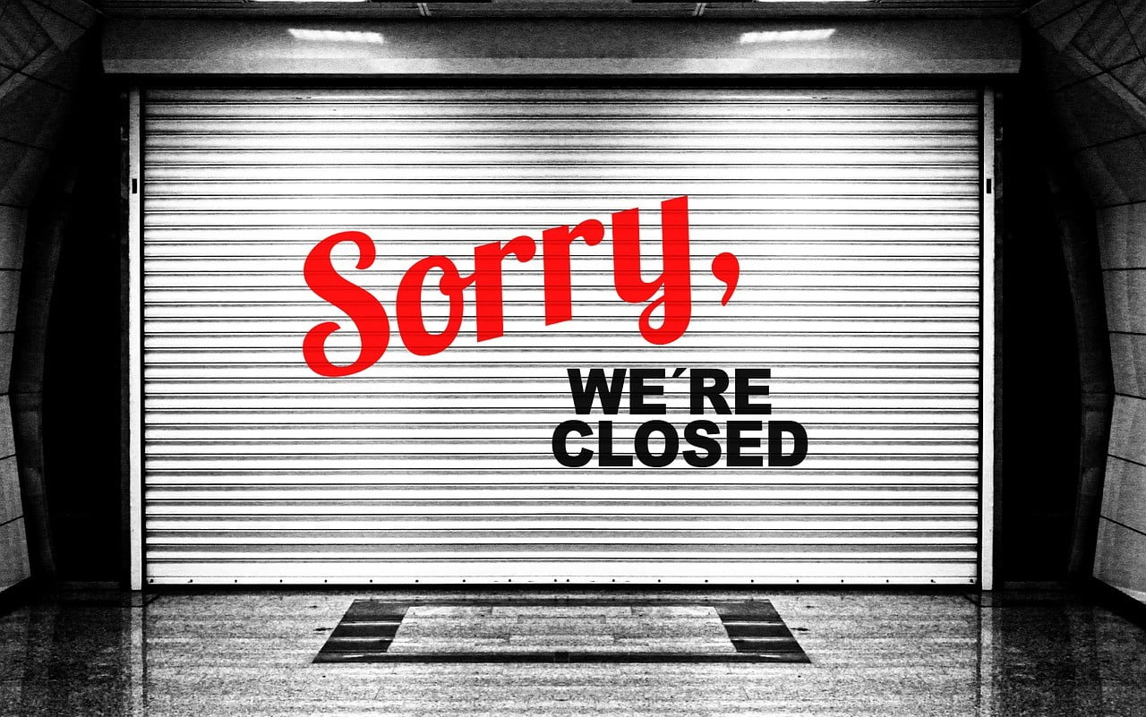 Sorry We Are Closed for the Holiday's