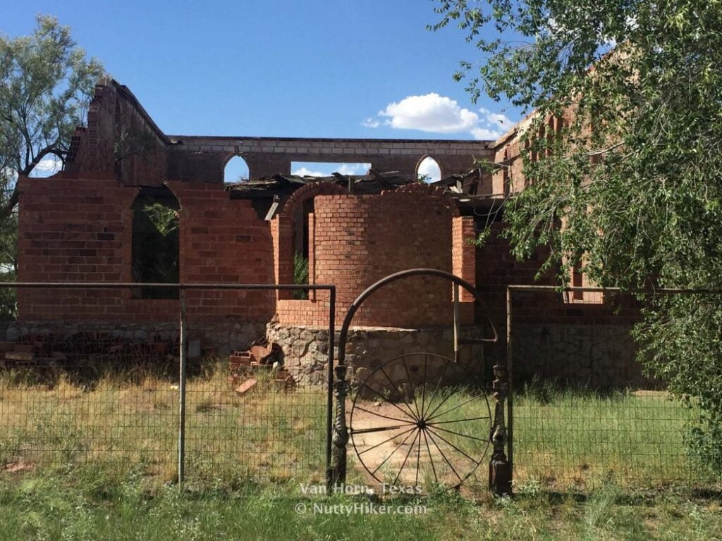 Van Horn Texas Old Abandoned building