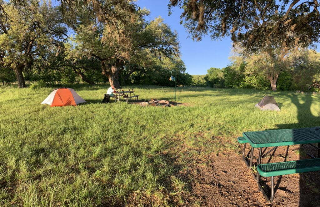 Walnut Creek campground on Goodwater Loop